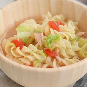 野菜とツナのスープパスタ